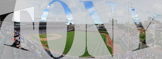 Panoramic WORLD SERIES CHAMPIONS Chicago Cubs by OutOfNormal