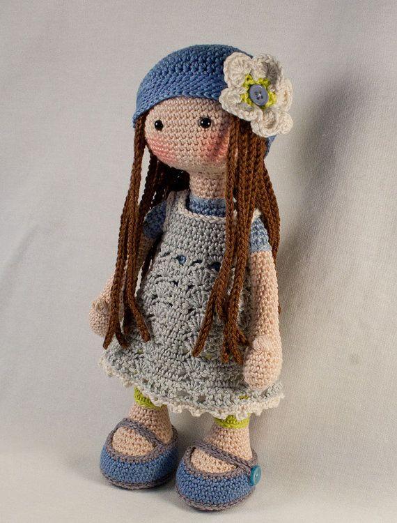 Ganchillo patrones para muñeca LILLY Deutsch Inglés por CAROcreated ♡