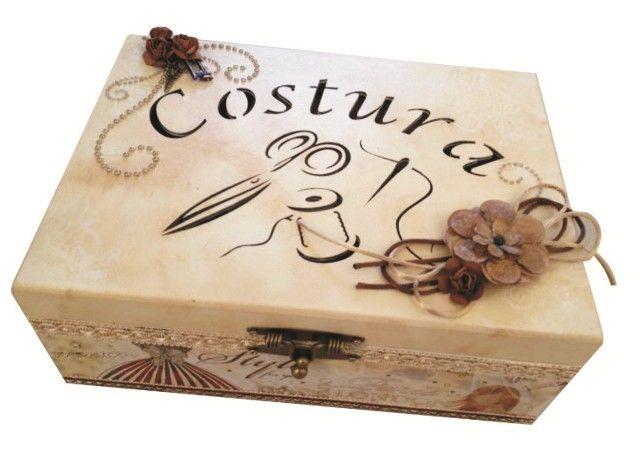 Caixa de Costura Decorada - Marisa Magalhães
