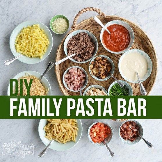 Make a Family Pasta Bar | The DIY Mommy