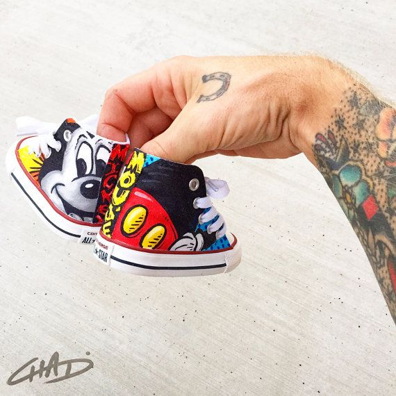 Custom Hand Painted Toddler Converse Chucks by ArtOfTheSole