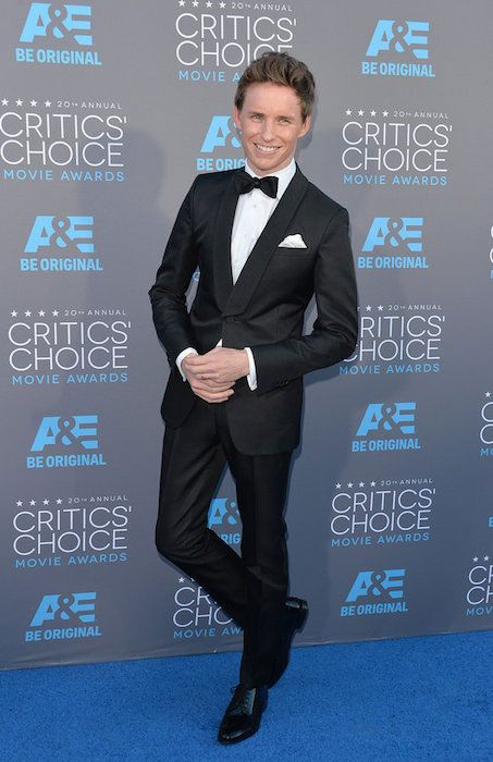 English actor, Eddie Redmayne at Critics Choice Awards 2015....