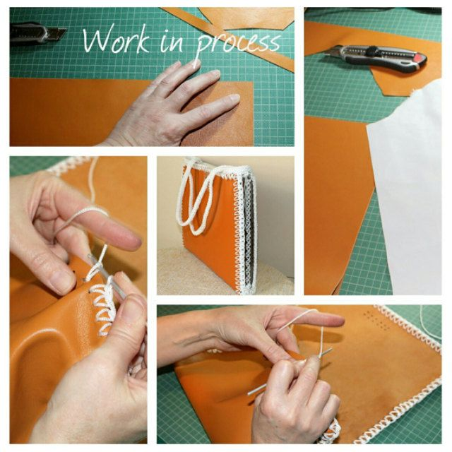 Leather laptop case for women, Leather handmade handbag