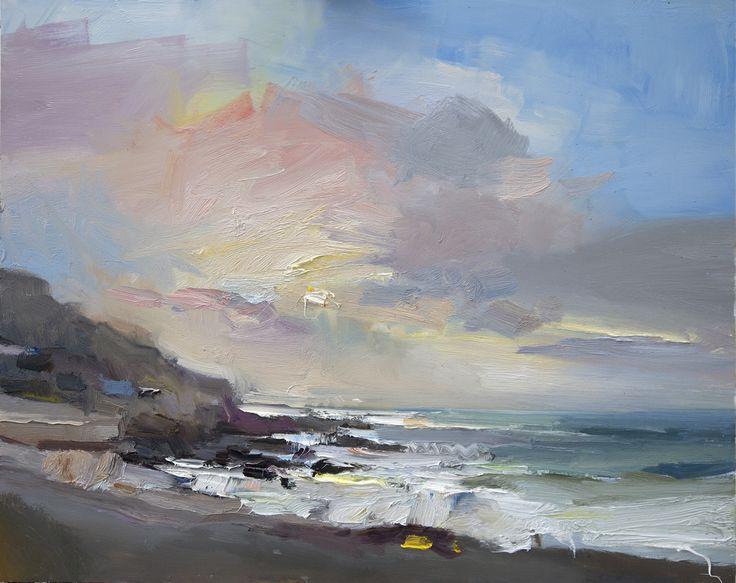 Paintings by Artist David Atkins   Sea at Portland