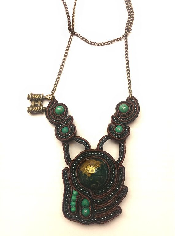 Handmade Soutache Necklace by FantasyOfSoutache on Etsy, $50.00