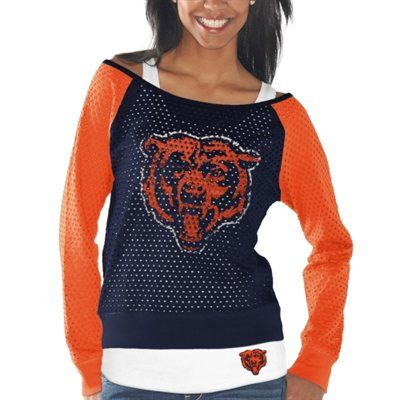 Ladies, you can rock this Holey Long Sleeve. Do it for the Orange and Blue.