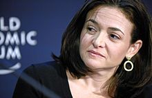 Sheryl Kara Sandberg-- (born August 28, 1969) is an American technology executive, activist, and author. She is the chief operating officer (COO) of Facebook and founder of Leanin.org (also known as the Lean In Foundation). In June 2012, she was elected to the board of directors by the existing board members, becoming the first woman to serve on Facebook's board. Before she joined Facebook as its COO,