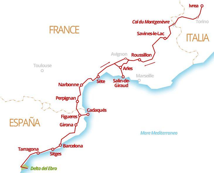2600 km - Luberon, Provenza, BARCELLONA, Catalogna, Camargue