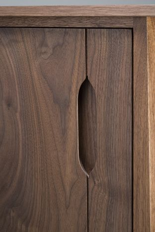 handle // black walnut // Eben Blaney Furniture