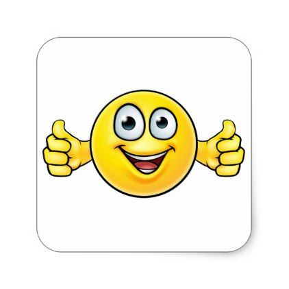 #Emoticon Thumbs Up Icon Square Sticker - #emoji #emojis #smiley #smilies