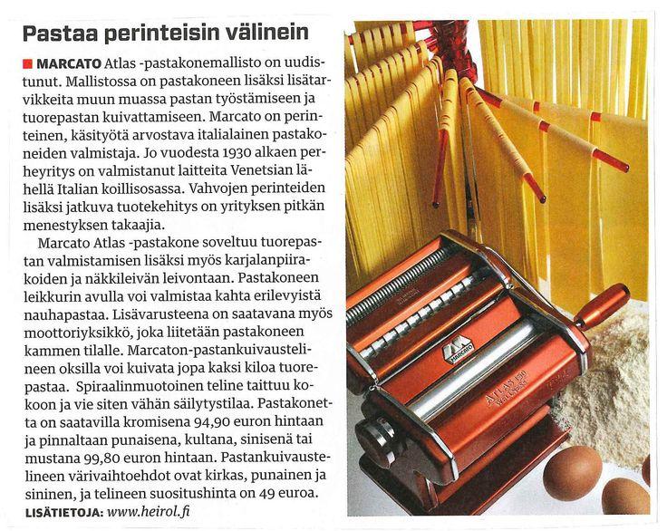 Marcato aito ja alkuperäinen pastakone tuorepastan, näkkileivän ja karjalanpiirakoiden valmistukseen!  Artikkeli: Tekniikan Maailma 01/2015.  #tuorepasta #näkkileipä #karjalanpiirakka