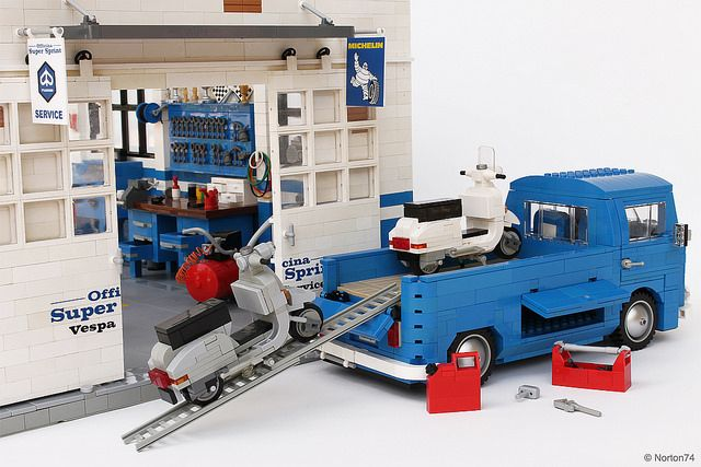 199 best lego 10220 images on pinterest lego vehicles for Garage sprint auto stains