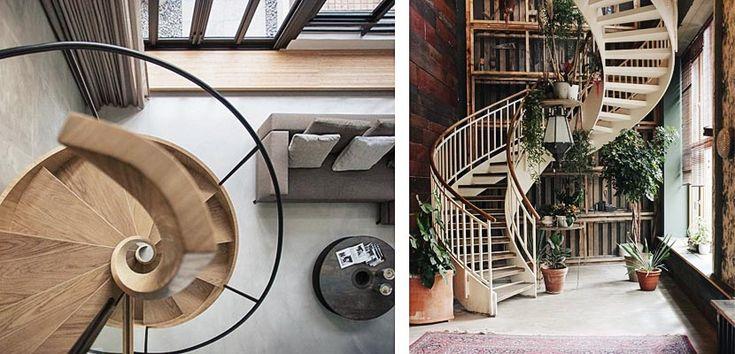 Escaleras de caracol, modernas y escultóricas - http://www.decoora.com/escaleras-de-caracol-modernas-y-escultoricas/