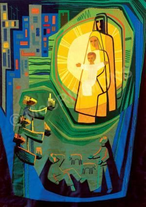 Nativity Poster by the Benedictine Sisters of Turvey Abbey, reproduced from a…