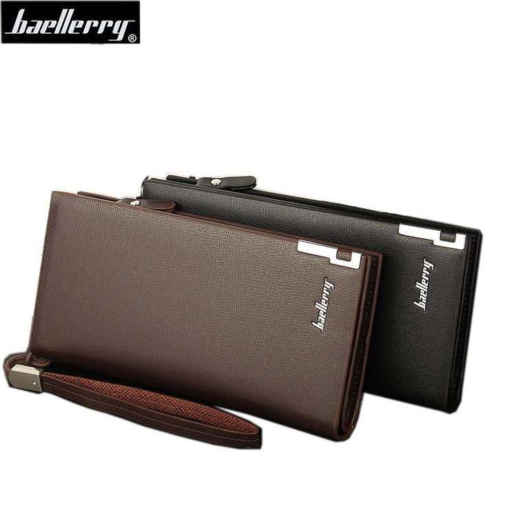 2016 Baellerry Business Men's Wallets Solid PU Leather Long Wallet Portable Cash Purses Casual Standard Wallets Male Clutch Bag * Smotrite etot zamechatel'nyy produkt.