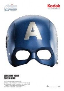 you can look like your super hero with this captain america face mask