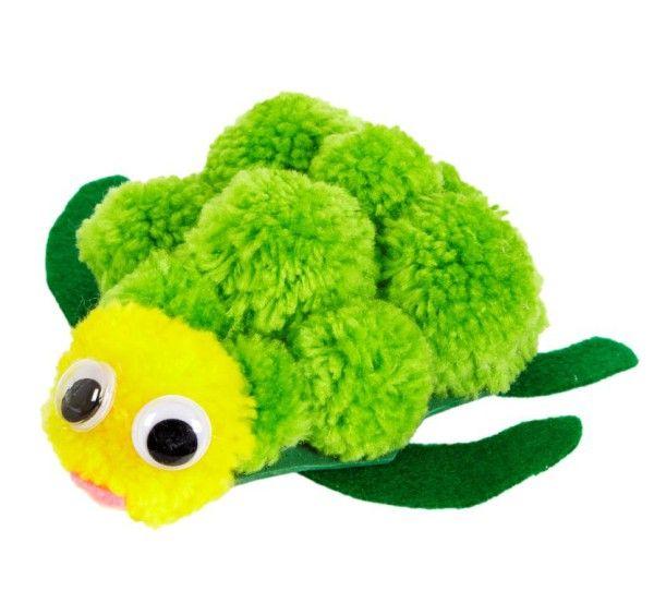 How to Make a Pom Pom Turtle #PomPom #Turtle