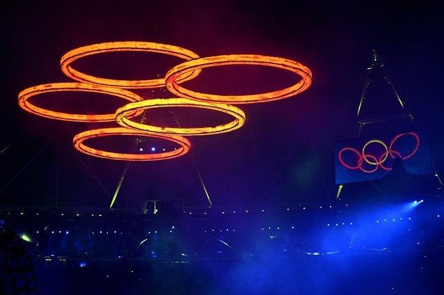 #London #Olympic Opening Ceremony. Olympic #Rings