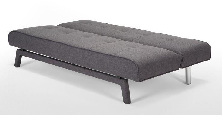 Comodo divano letto Yoko in colore grigio talpa di MADE.COM | made.com
