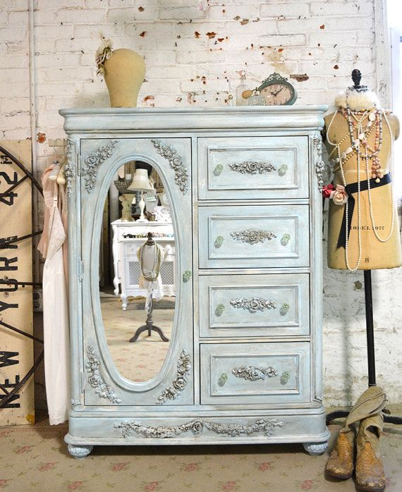 Painted Cottage Chic Shabby Romantic French Painted Dresser