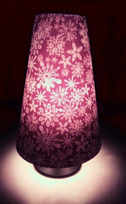 Wine glass Christmas tea light holder