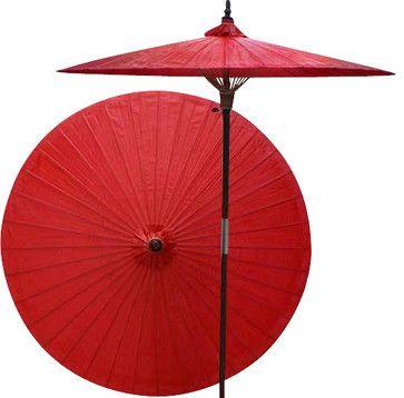 Patio Umbrella, Cherry - asian - Outdoor Umbrellas - Oriental Decor