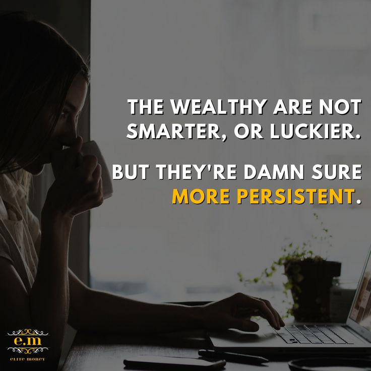 Why is it that we assume wealthy people are always smarter, or more educated, or even lucky?  The one thing that these people have in common is #Persistance  Learn the Power of Habit and take your #lifegoals to the next level!