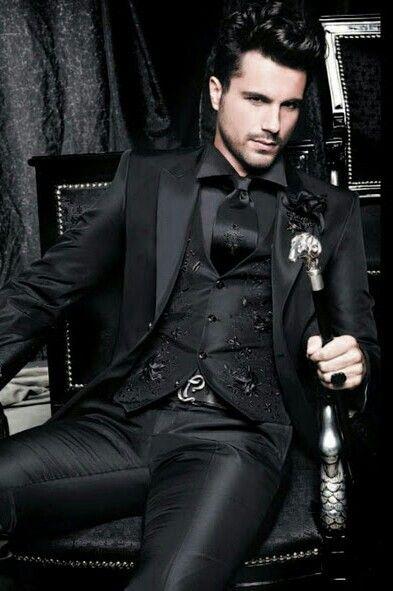 Intimidating man in suit clipart