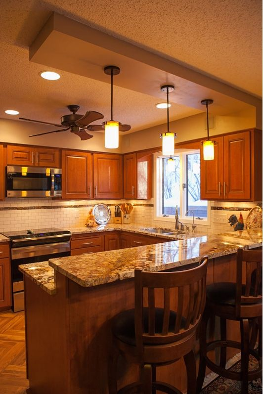 a warm and inviting kitchen with refinished cabinets creative kitchens pinterest. Black Bedroom Furniture Sets. Home Design Ideas