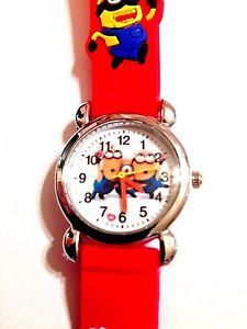 New Red Minions Silicone Girls Boys Watch 3 D | eBay