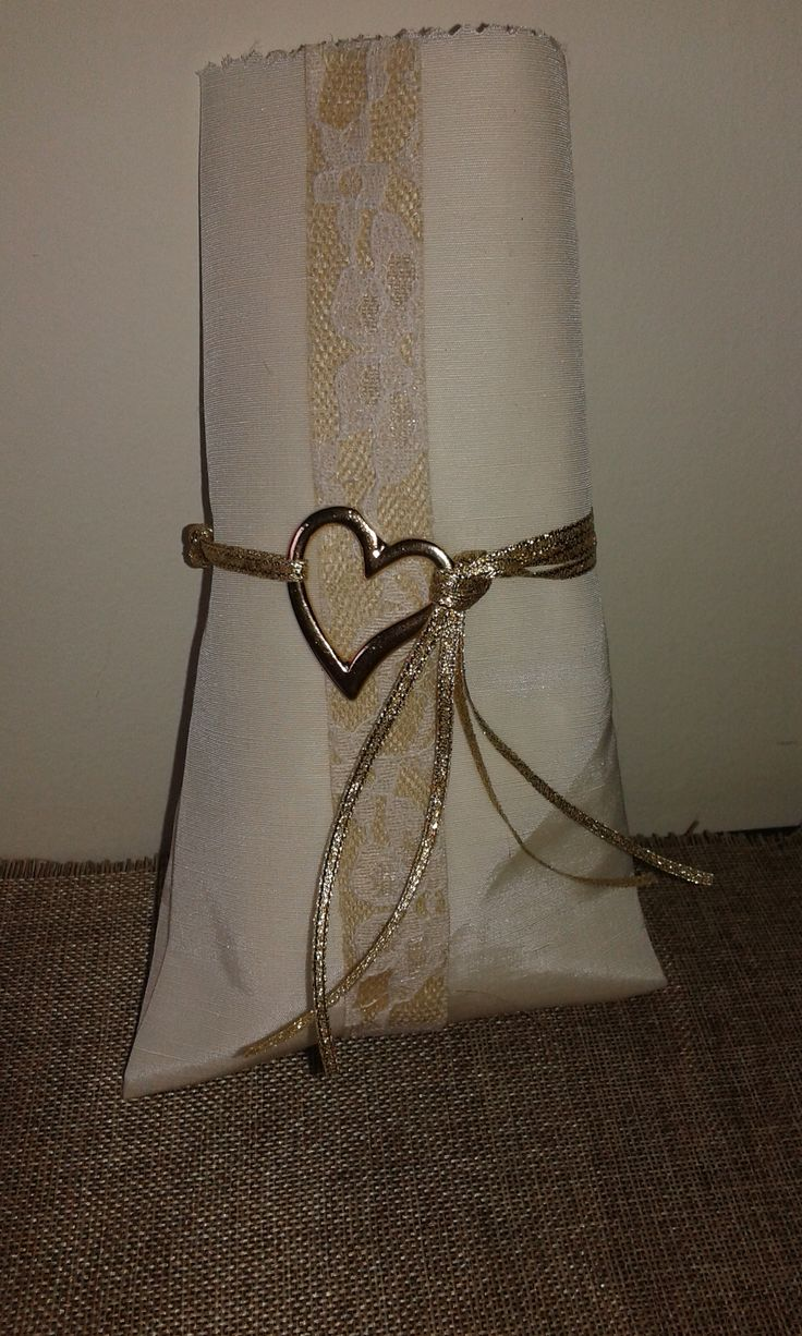 Μπομπονιέρα Γάμου Φάκελος δαντέλα με καρδιά!