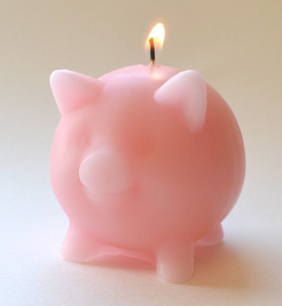 Pink pig candle baby shower centerpieces ... | Piggy theme party ideas