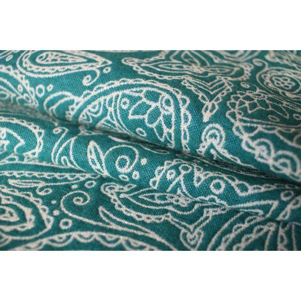 Chusta Długa tkana YARO LACE CONTRA GREEN WHITE WOOL GLAM CarryLove.pl - sklep i wypożyczalnia z chustami i nosidłami ergonomicznymi