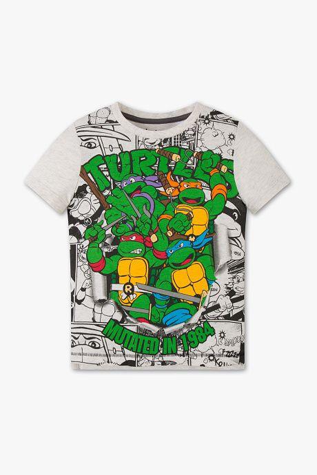 e86692fa5 Niños - Camiseta de manga corta de las Tortugas Ninja - algodón orgánico -  estampado multicolor