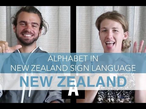 Alphabet in New Zealand Sign language | Seek the World