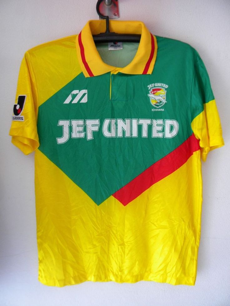 Jef United FC Jersey Soccer Football Shirt J-league Mizuno L Yellow Green Trikot #Muzuno #JefUnited