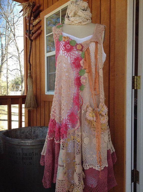 Luv Lucy Crochet dress Spring Basket
