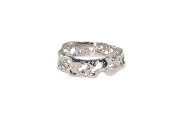 Handcrafted Holliegraphic band in sterling silver.  http://www.holliegraphic.com/shop/gnarled-band Instagram @Holliegraphic