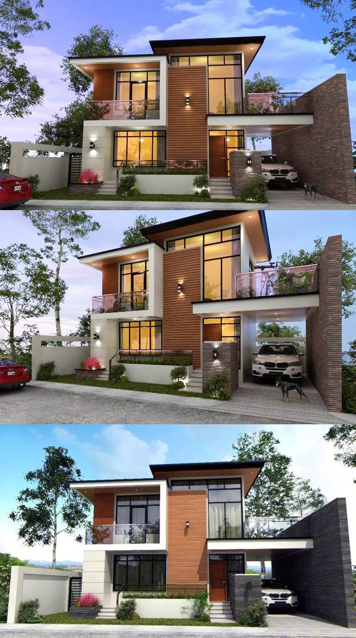 Wow Who Could Resist That Jaw Dropping And Stunning Double Storey Modern House Modern Exterior House Designs Facade House Contemporary House Exterior