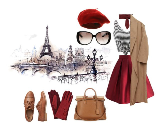 """""""cliché parisienne"""" by jenifferalves on Polyvore featuring Chicwish, Gap, Chloé, Gucci, WithChic and Maison Margiela"""