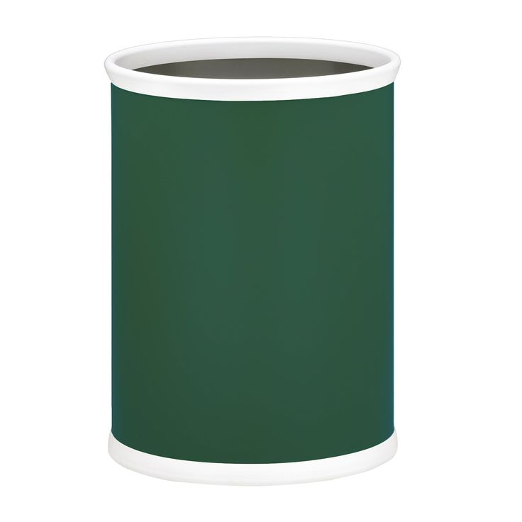 Fun Colors 14-inch Oval Waste Basket (Tropic Green), Size 3-6 Gallons (Metal)