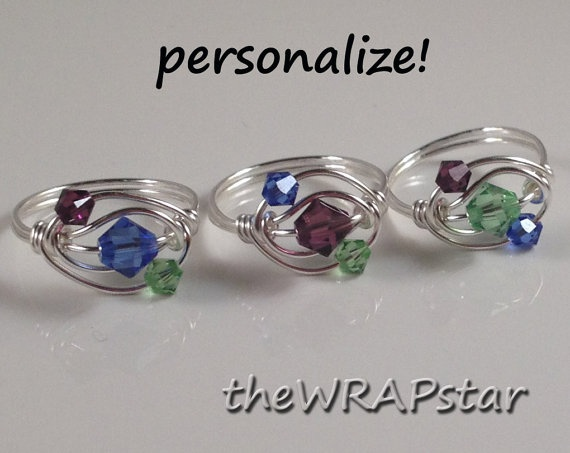 Personalized Wire Wrapped Jewelry Handmade by theWRAPstar on Etsy, $16.45