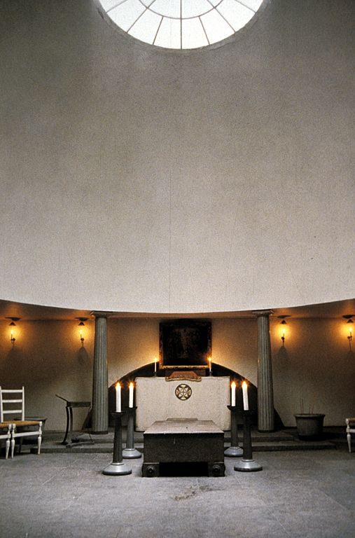 Gunnar Asplund, Woodland Chapel. Domed interior.