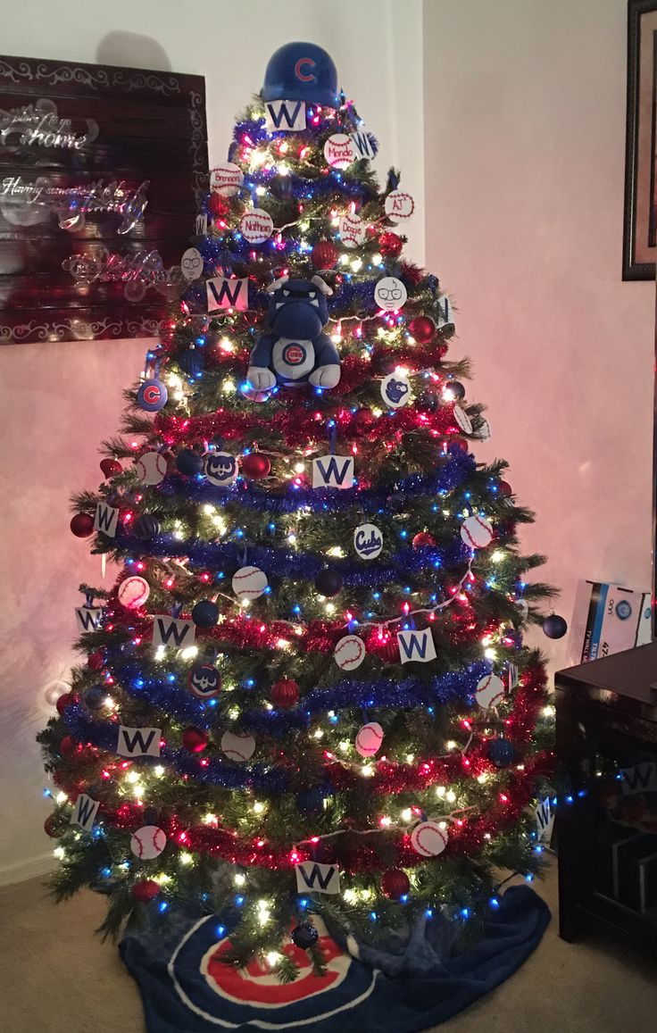 Our Chicago Cubs Christmas Tree! #2016Champions