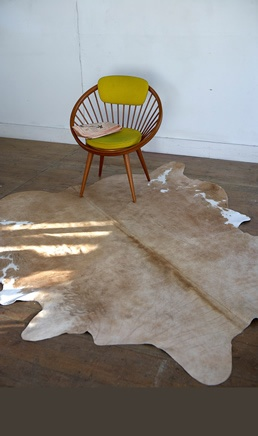 Cowhide and accent chair
