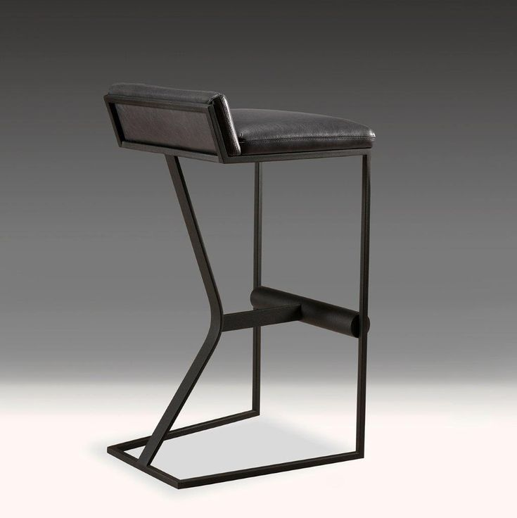 STUDIA Faye Barstool   interior design, furniture, seating, kitchen, dining room, dining chair, modern, contemporary, minimalist, leather, metal