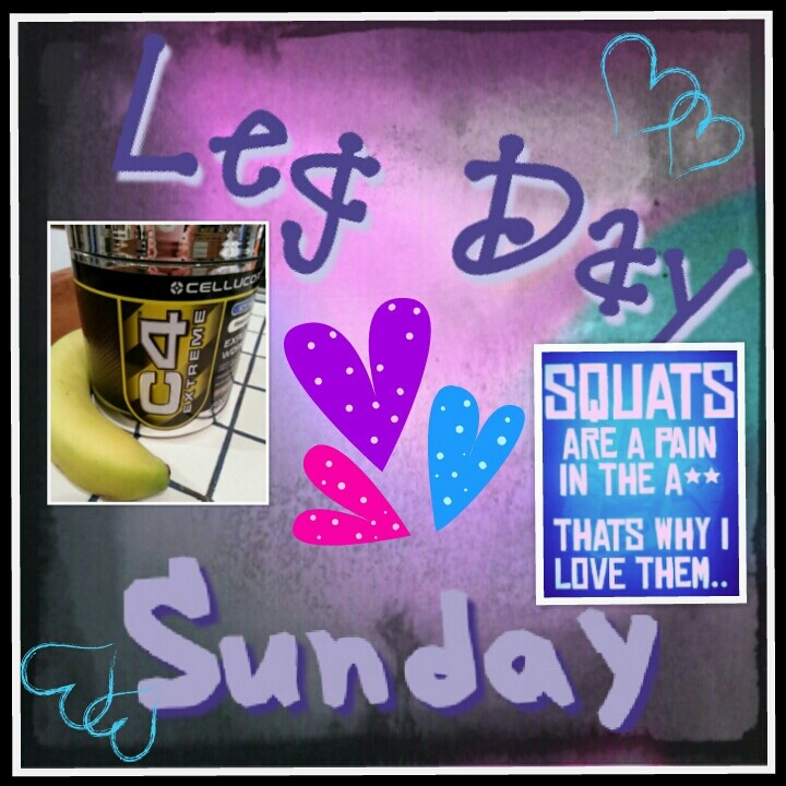 I loathe you SUNDAY!!!  Not only is it the last day of the weekend but it's food prep day.  The weather is supposed to be amazing and I'll be cooking.   Chicken, rice, veggies, dressings & oats.  I should also throw some studying into the mix.   On the brighter side it's LEG DAY!!!  Body Beast Day 14.  Adding additional sets, ab circuit and some steady state cardio to make up for my binge yesterday.  I'm also cutting my preworkout meal down and taking my #cellucor C4.  For the next few…