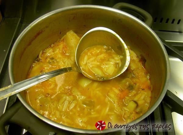 Σούπα κριθαράκι με λαχανικά