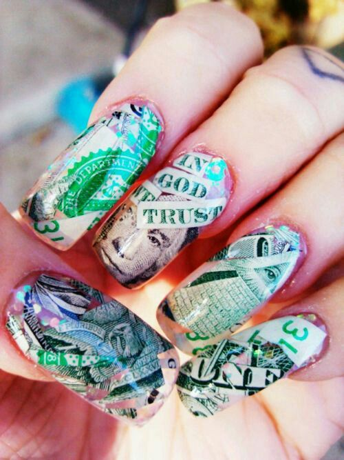 Money nail designs pictures magnificent money nail art designs view images money nail art ashia prinsesfo Images