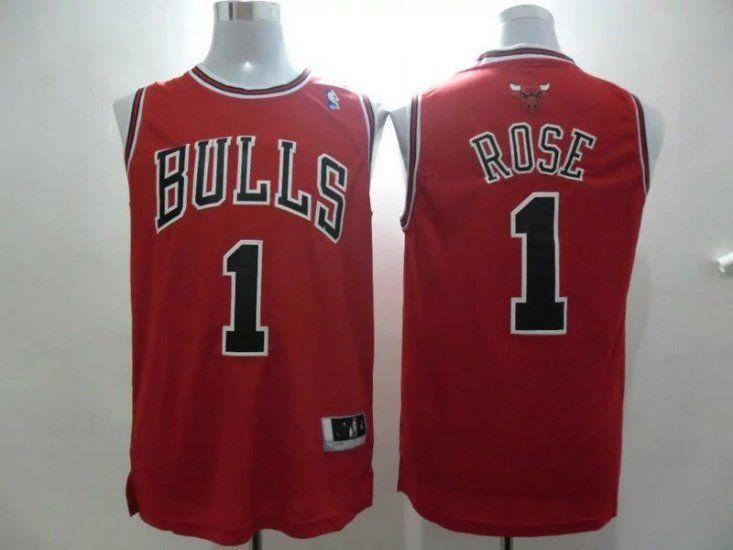 dfa470d86ff youth kids nba jerseys chicago bulls 1 derrick rose black red strip ...